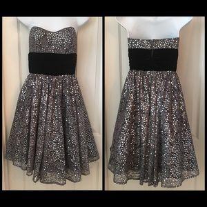 Boutique Betsey Johnson Silver Sequin Dress